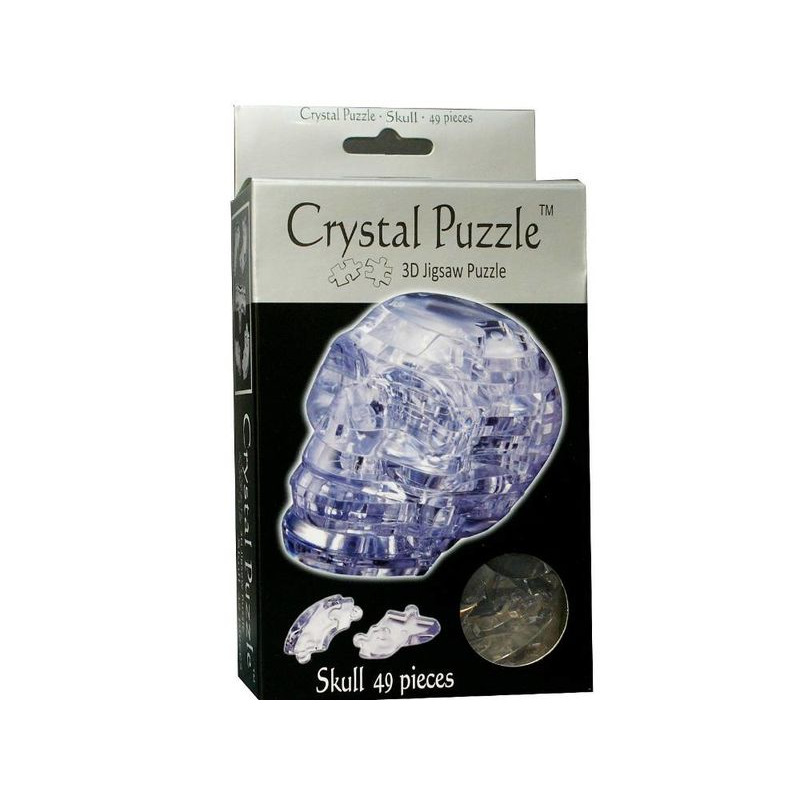 3D Crystal Puzzle  Clear Skull