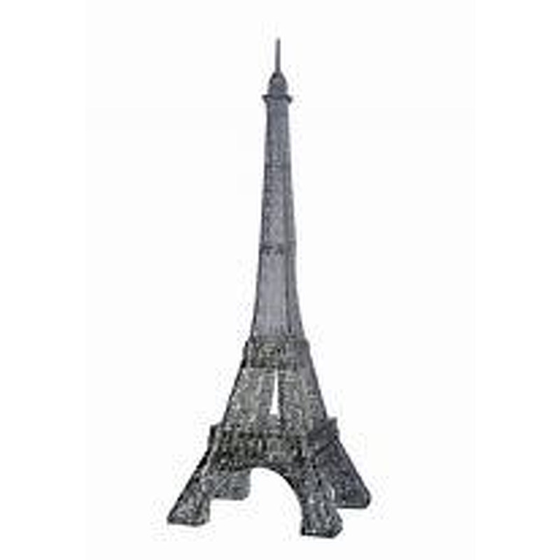 3D Crystal Puzzle  Eiffel Tower Black