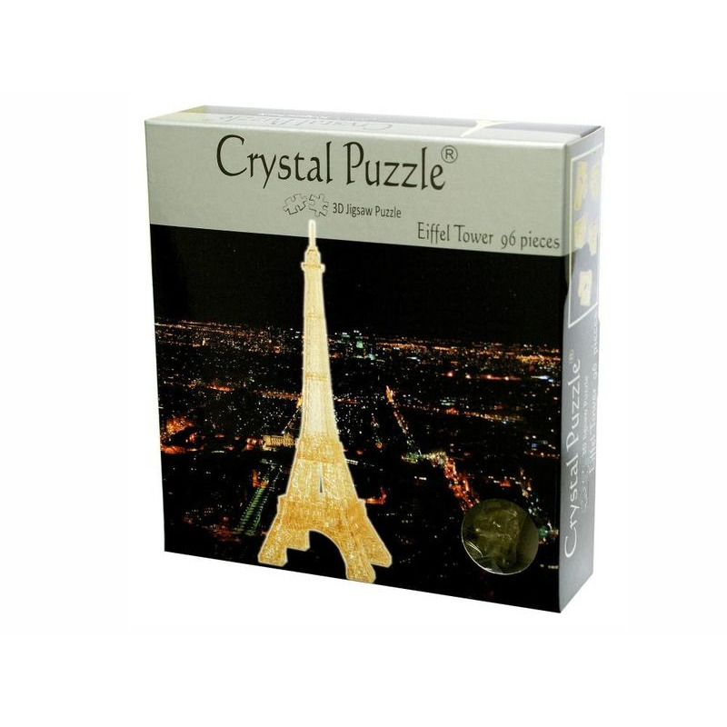 3D Crystal Puzzle  Eiffel Tower Gold