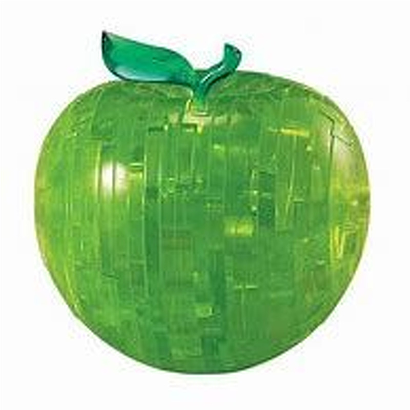 3D Crystal Puzzle  Green Apple