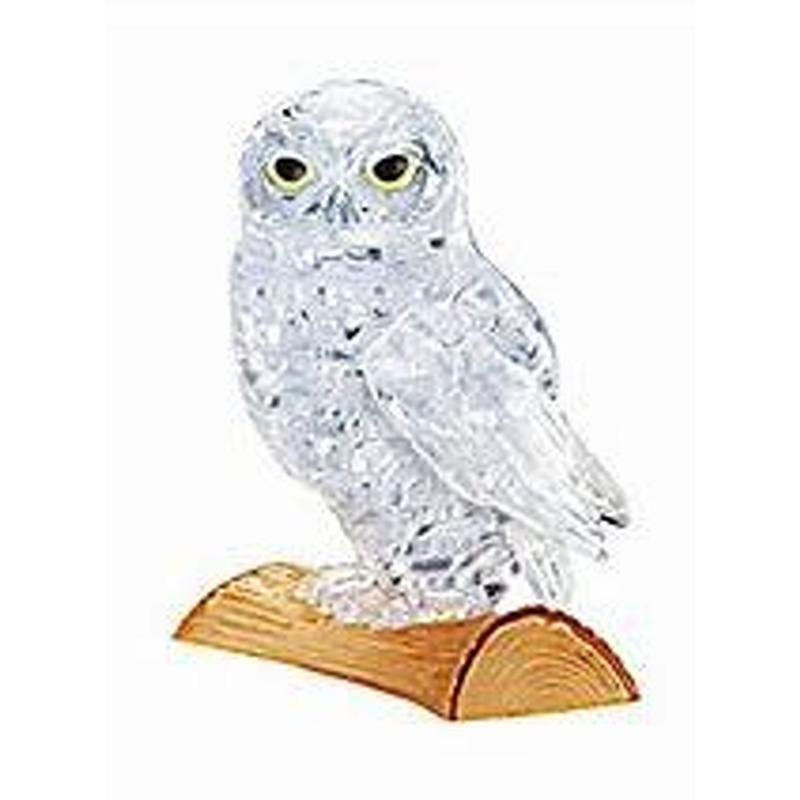 3D Crystal Puzzle  Owl Clear