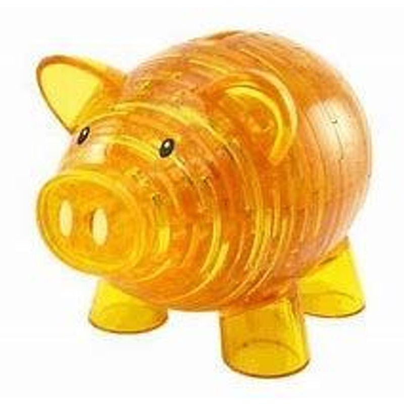 3D Crystal Puzzle  Piggy Bank Golden