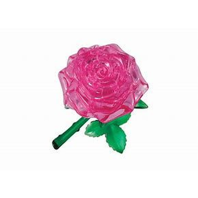 3D Crystal Puzzle  Pink Rose