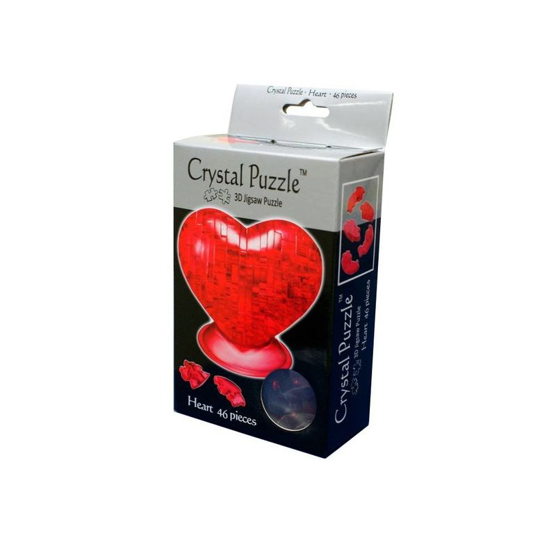 3D Crystal Puzzle  Red Heart