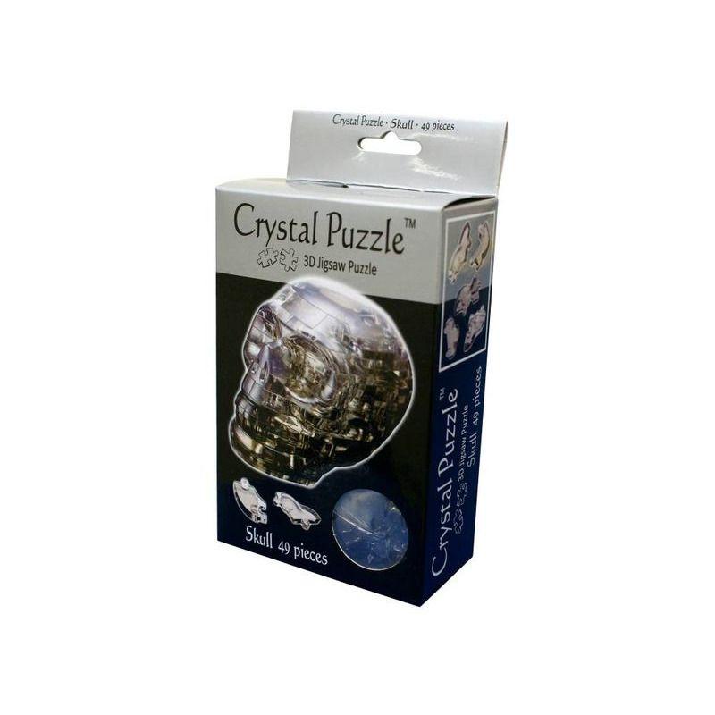 3D Crystal Puzzle  Skull Black