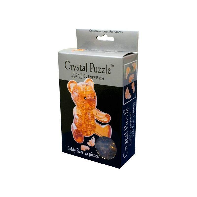 3D Crystal Puzzle  Teddy Bear Brown