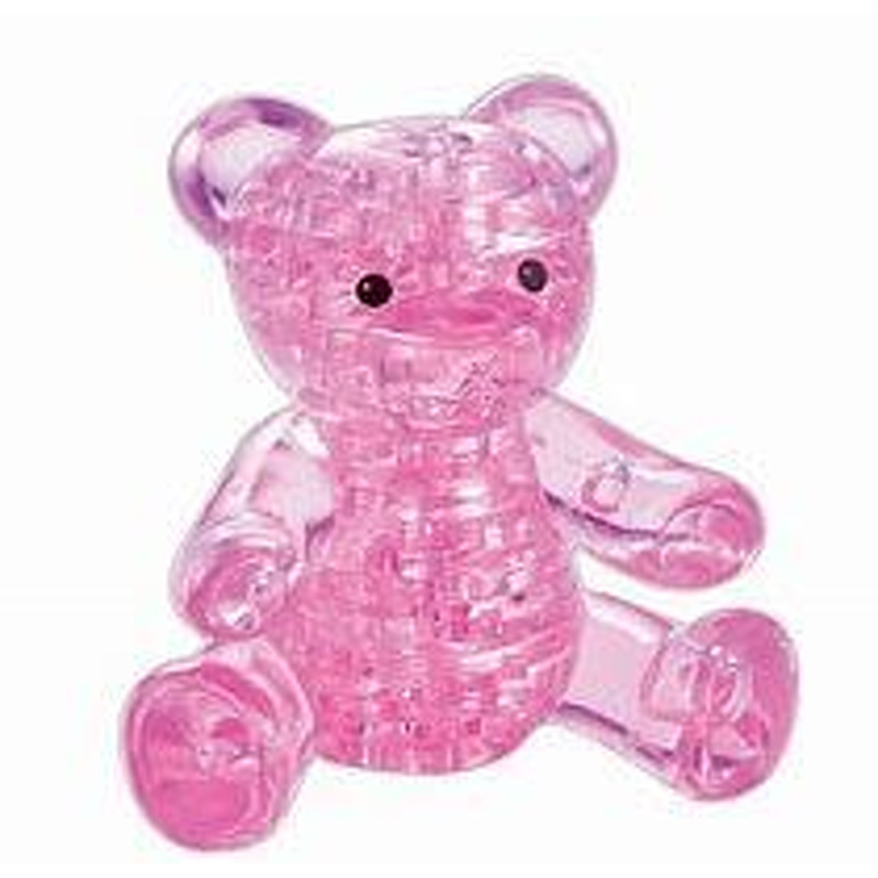 3D Crystal Puzzle  Teddy Bear Pink