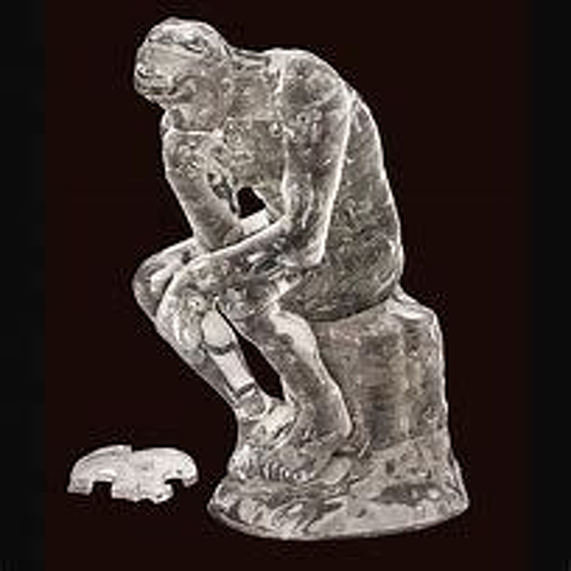 3D Crystal Puzzle  The Thinker