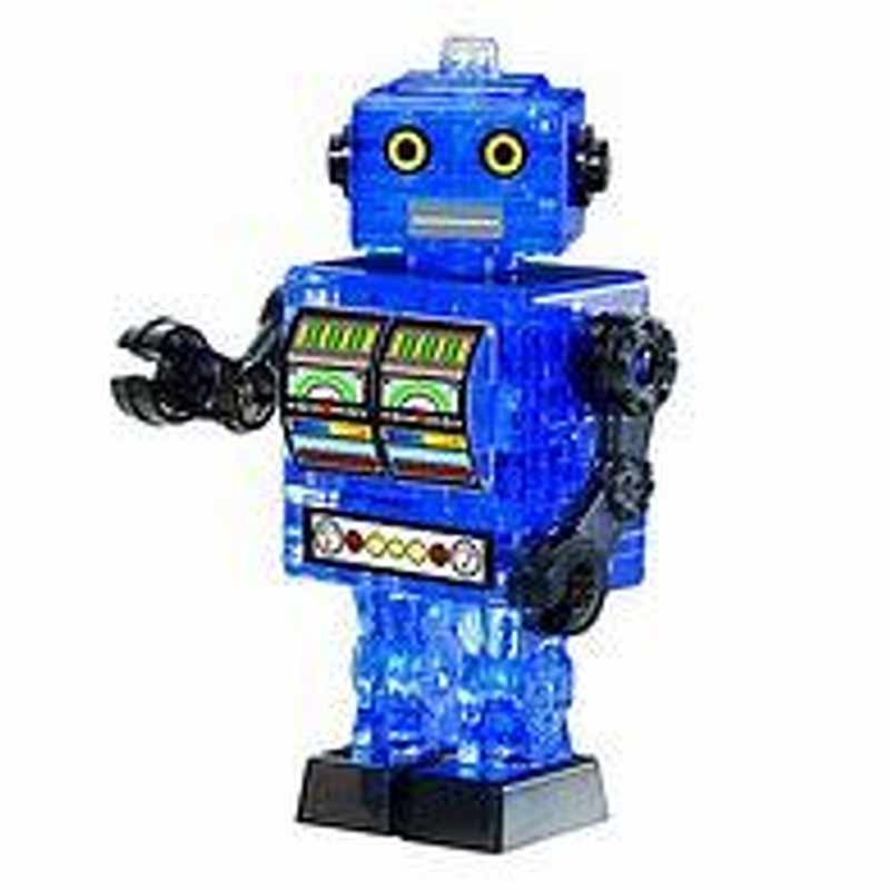 3D Crystal Puzzle  Tin Robot Blue