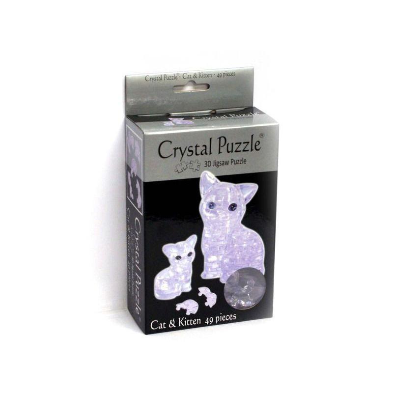 3D Crystal Puzzle   Cat + Kitten