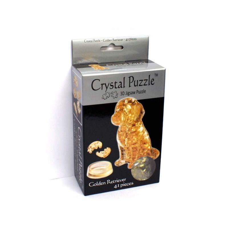 3D Crystal Puzzle   Golden Retriever
