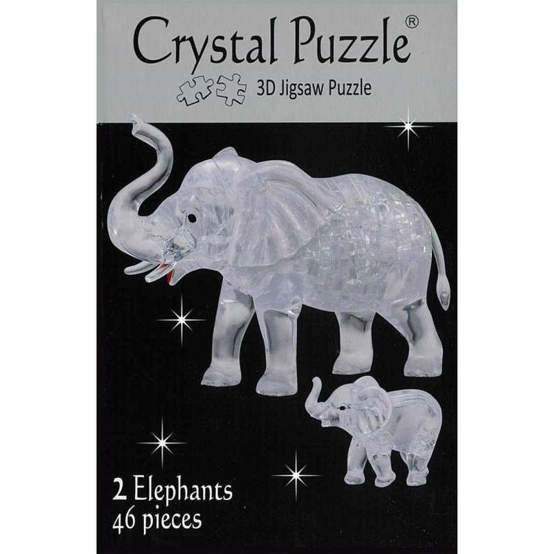3D Crystal  2 Elephants