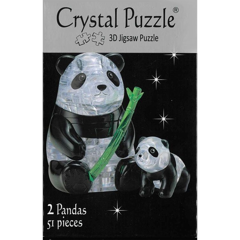 3D Crystal  Panda Pair