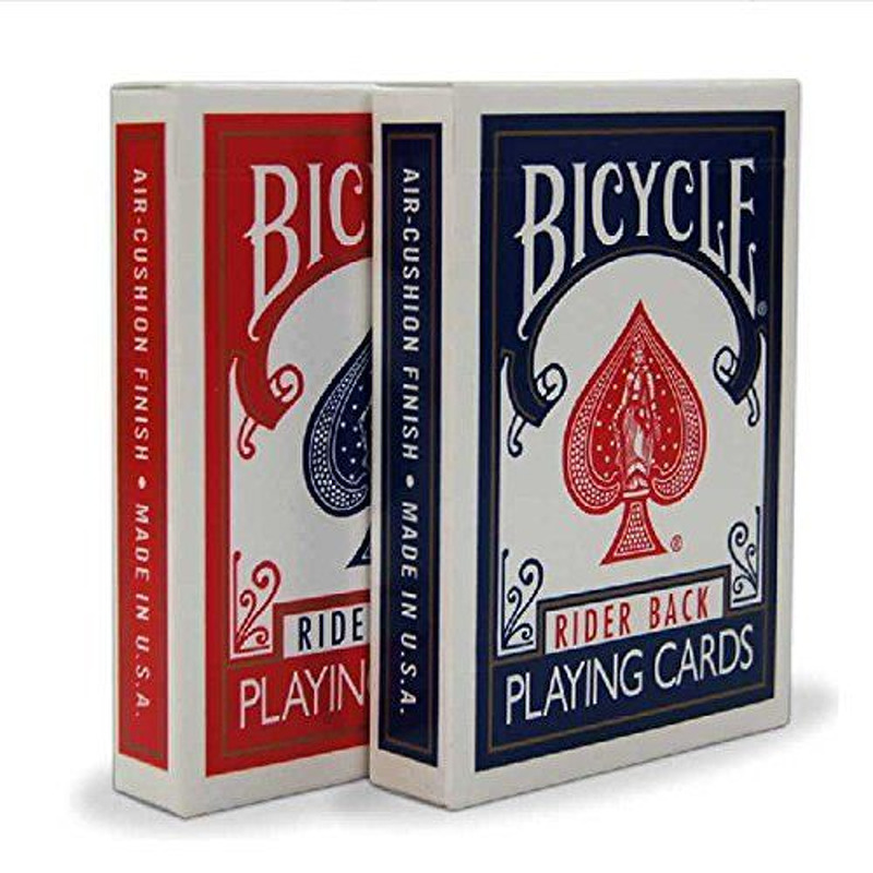 Bicycle Playing Cards Single  Rider Backs Red or Blue