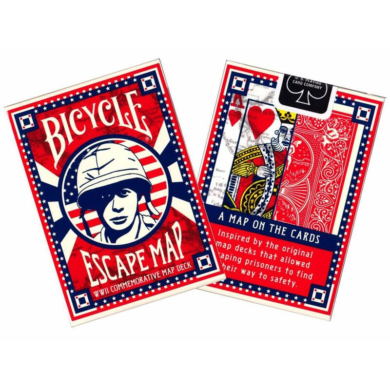 Bicycle Playing Cards Single   Poker Escape Map