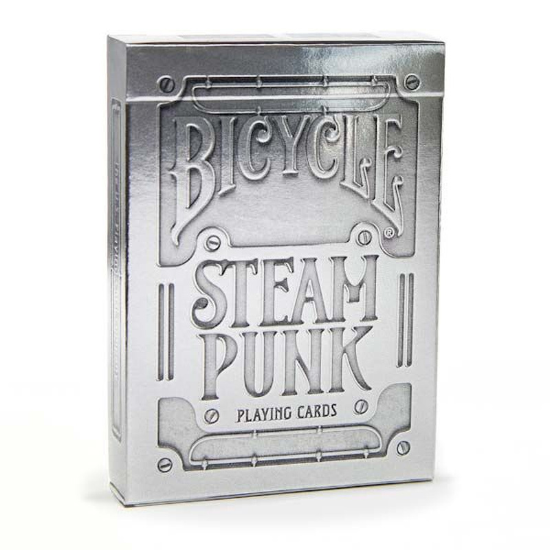 Bicycle Playing Cards Single   Poker Steam Punk Silver