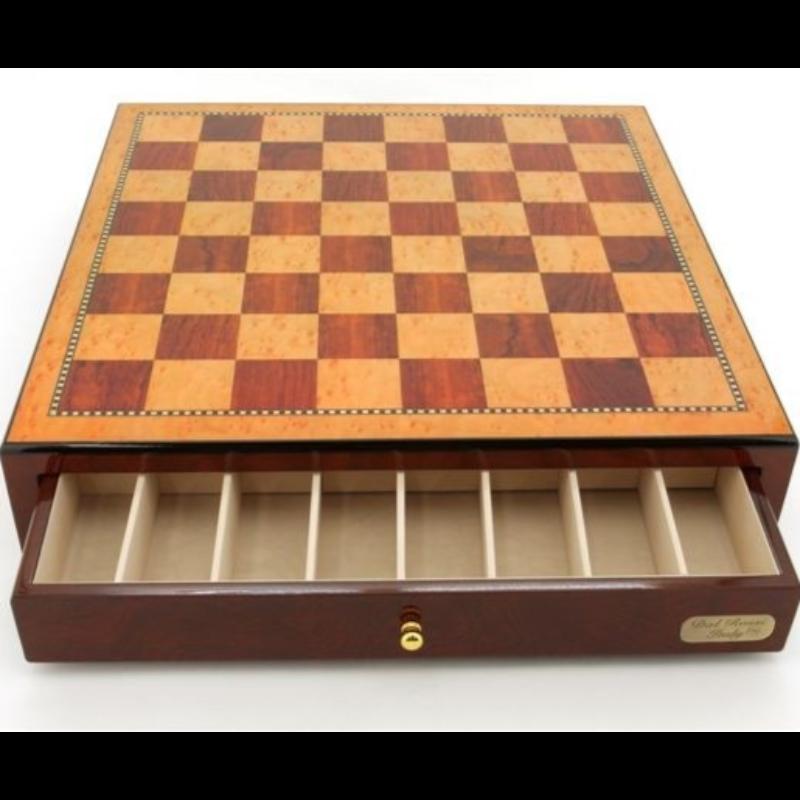 Chess Board - 18+quot Dal Rossi Walnut WDrawer