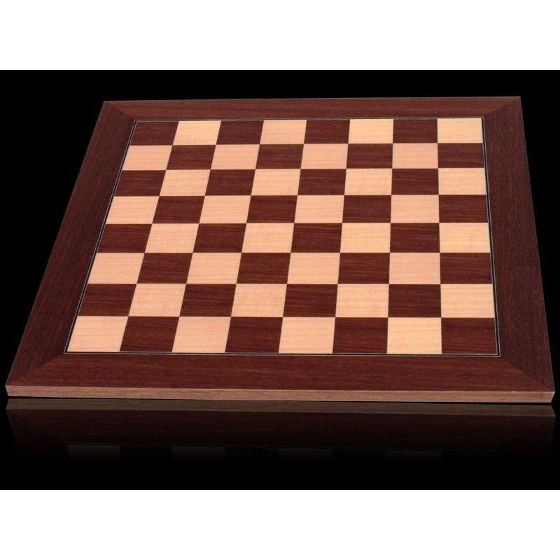 Chess Board  Dal Rossi 40cm PalisanderMaple