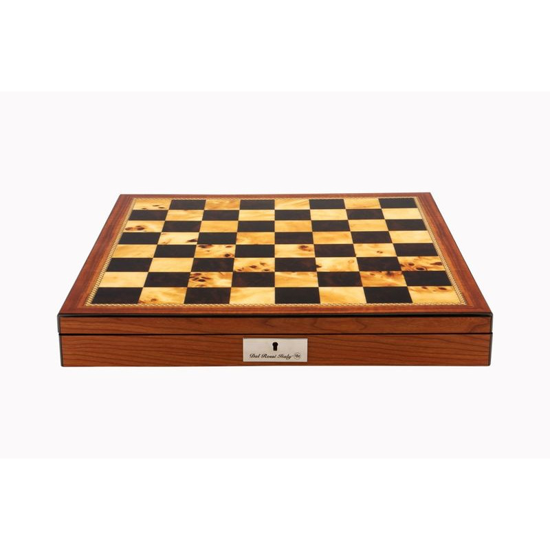 Chess Box  16andquot Dal Rossi Chess Box Walnut Finish