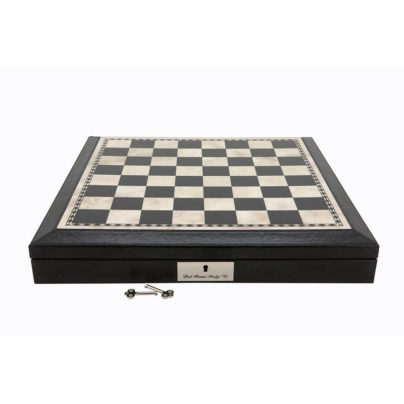 Chess Box  17andquot Dal Rossi Black and White Bevelled Edge