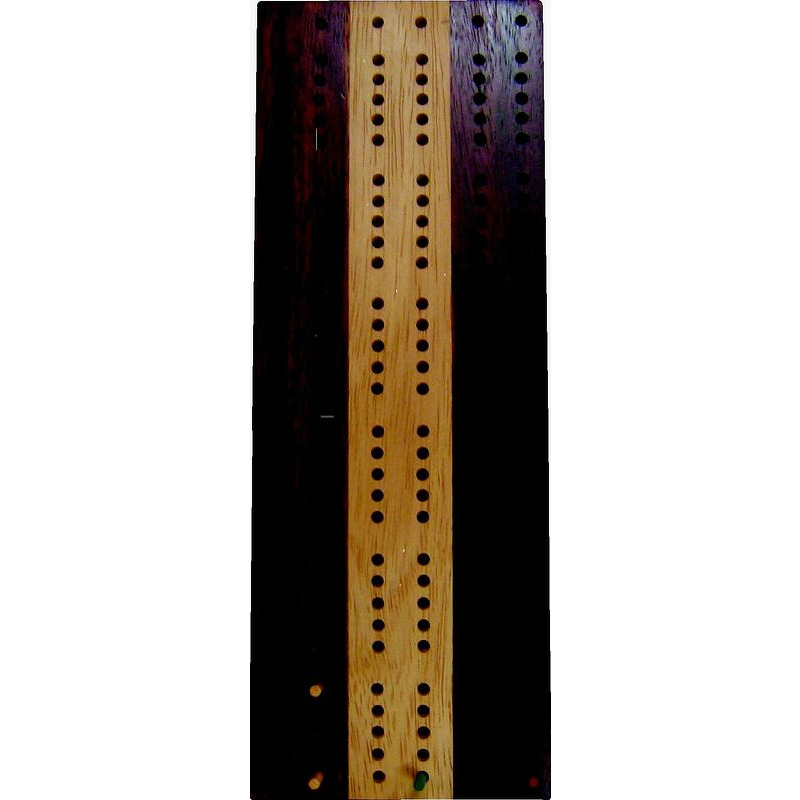 Cribbage Board  3 Track 2 Tone Timber