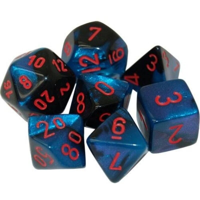 Dice  Chessex  Gemini Black Starlight