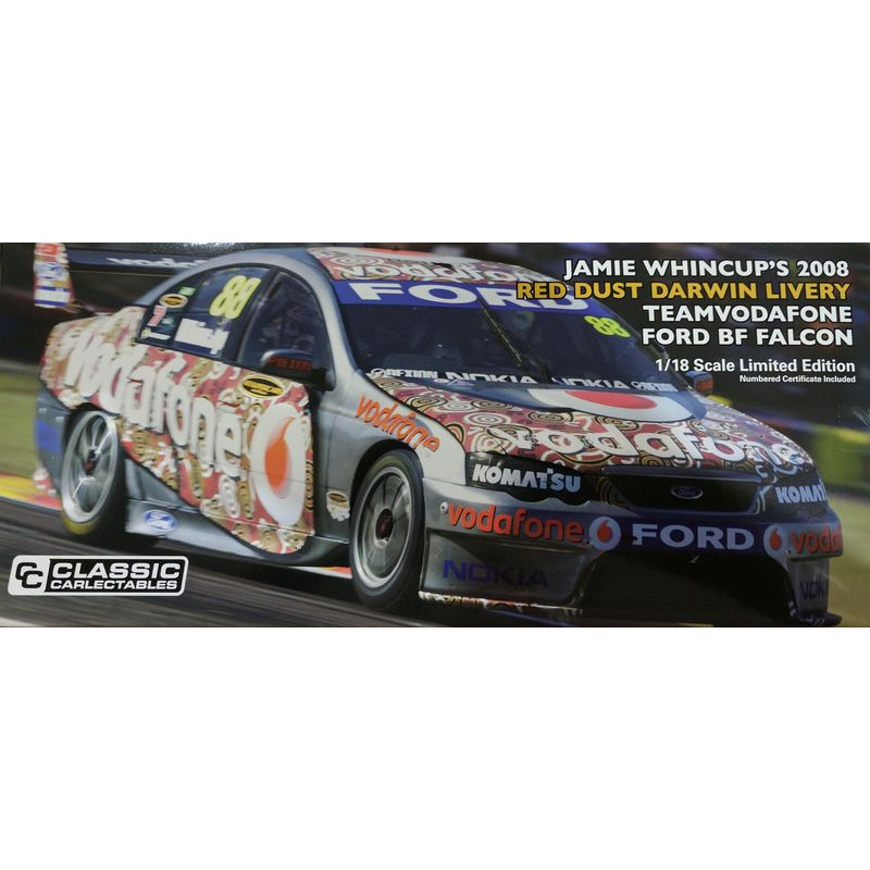 Ford BF Falcon 2008 Red Dust Darwin Livery  TeamVodafone  Jamie Whincup