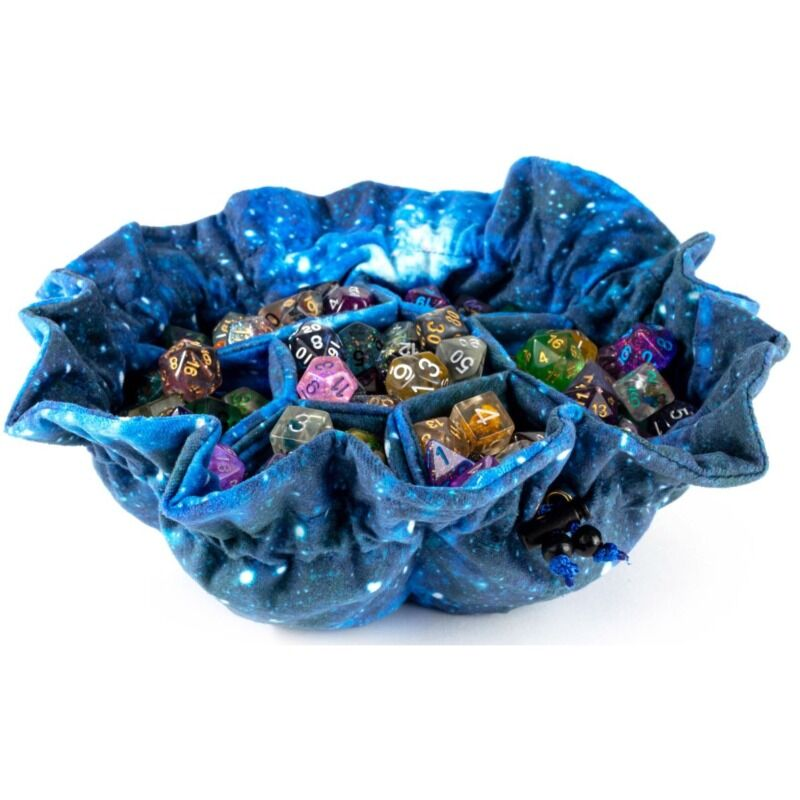 MDG  Velvet Compartment Dice Bag with Pockets  Galaxy
