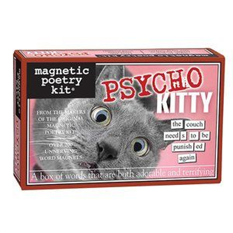 Magnetic Poetry  Psycho Kitty