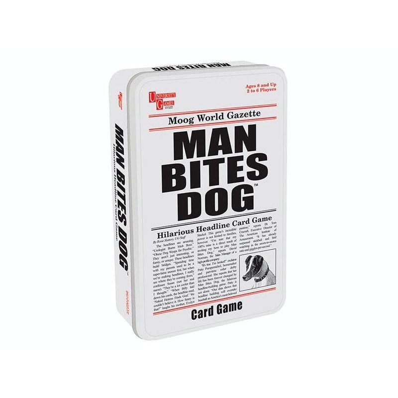Man Bites Dog Card in Tin