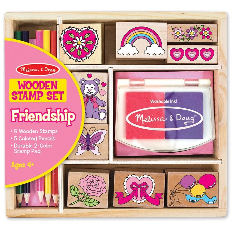 Melissa andamp Doug  Butterfly And Hearts Stamp Set