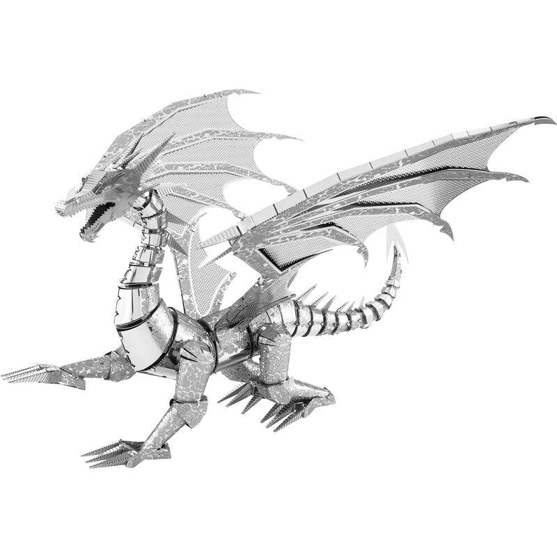 Metal Earth - ICONX Silver Dragon