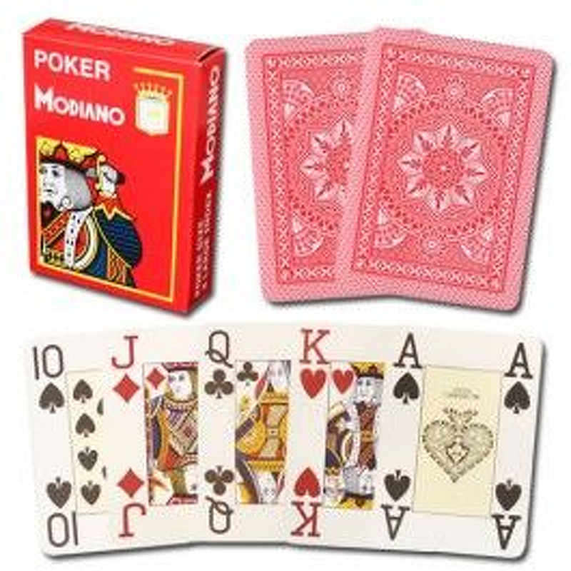 Modiano Playing Cards  Single Poker 100 Plastic
