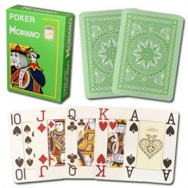 Modiano Playing Cards  Single Poker 100 Plastic Green