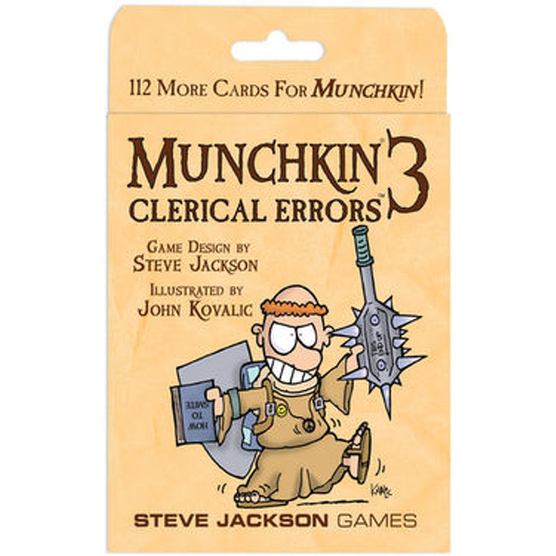 Munchkin 3  Clerical Errors Expansion