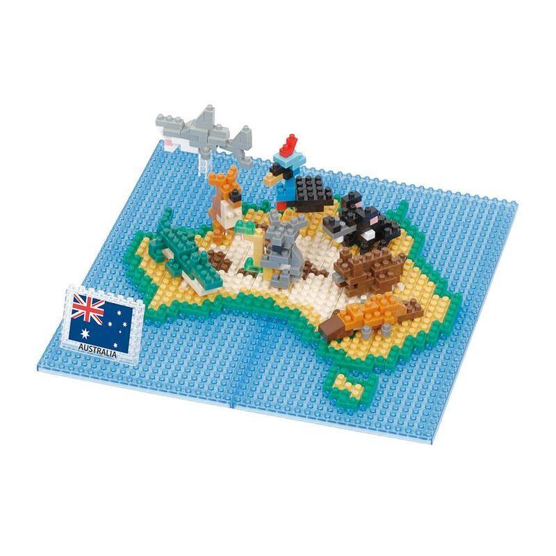 Nanoblock  Animals of Australia on map