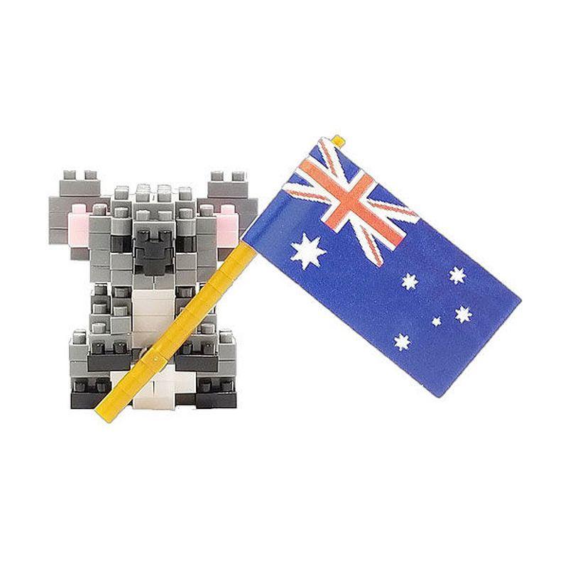 Nanoblock  Koala w Flag