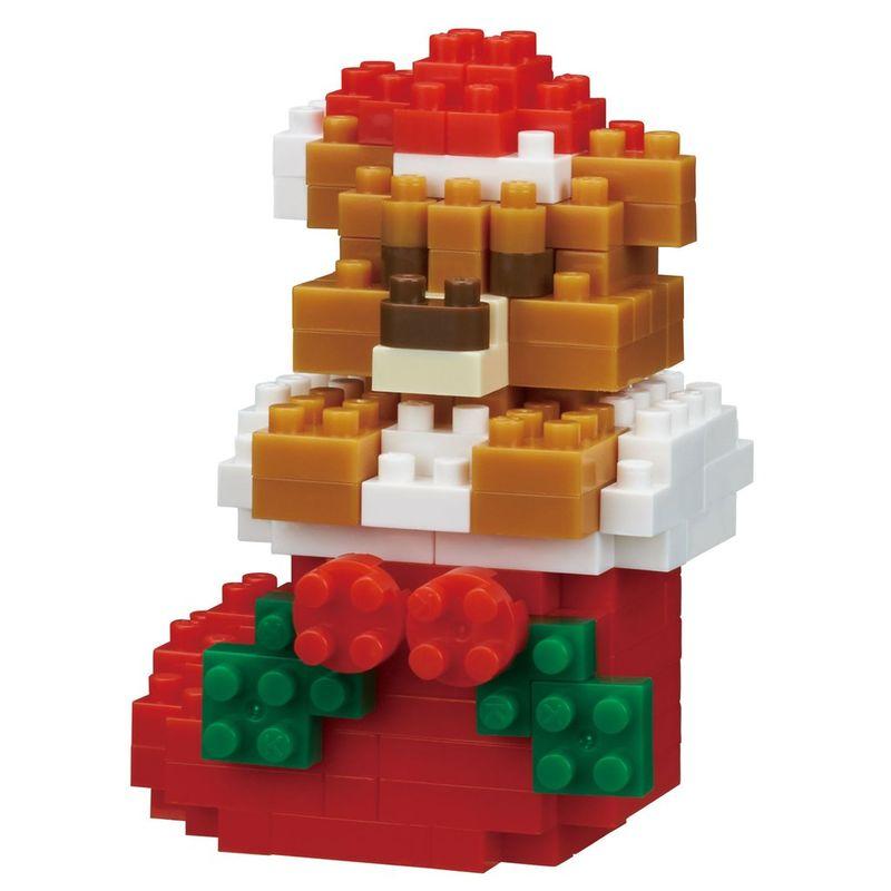 Nanoblock  Teddy bear with Christmas stocking