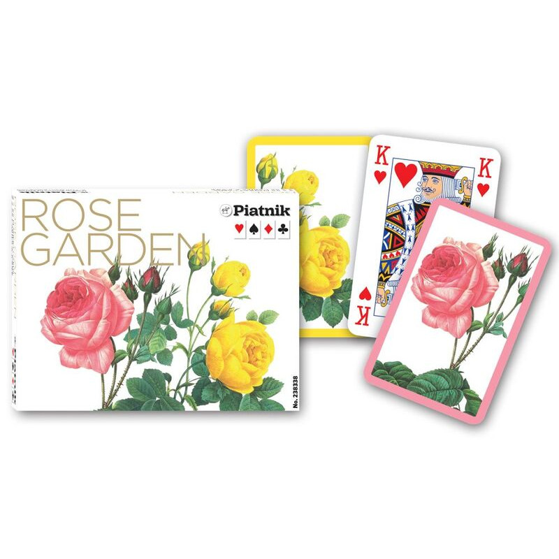 Piatnik  Playing Cards Bridge Double  Rose Garden
