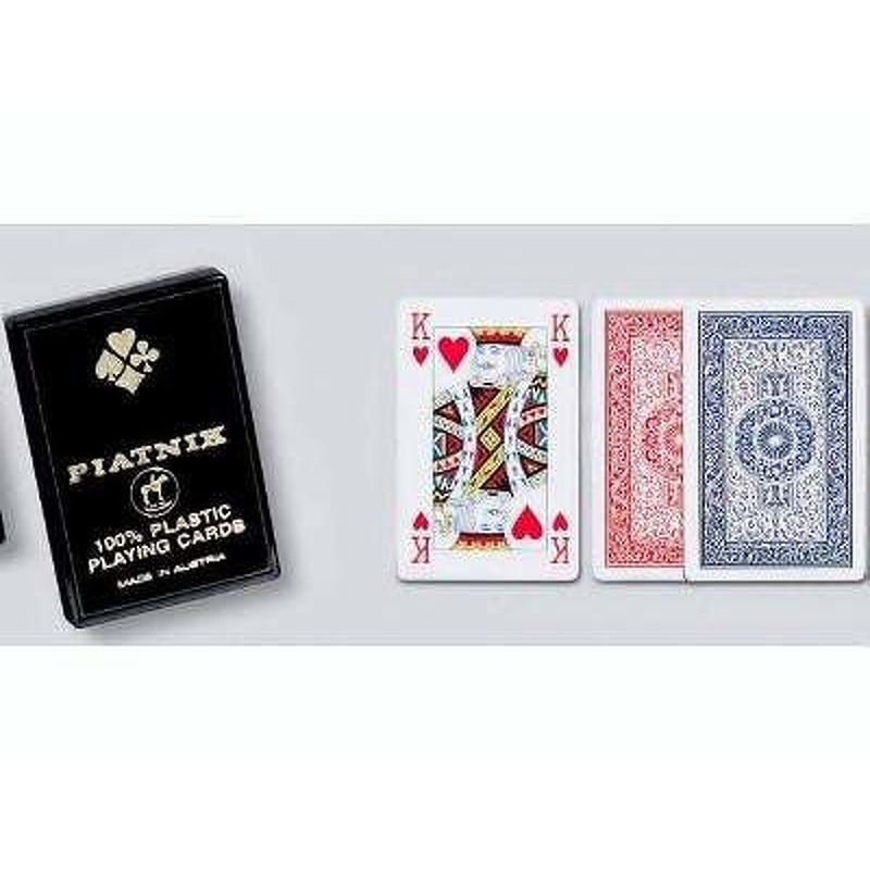 Piatnik  Playing Cards Single  4 Index 100 Plastic