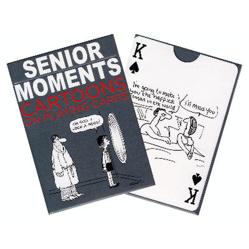 Piatnik  Playing Cards Single  Senior Moments Cartoon