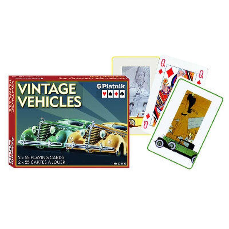 Piatnik  Playing Cards Single  Vintage Vehicles Bridge DBL