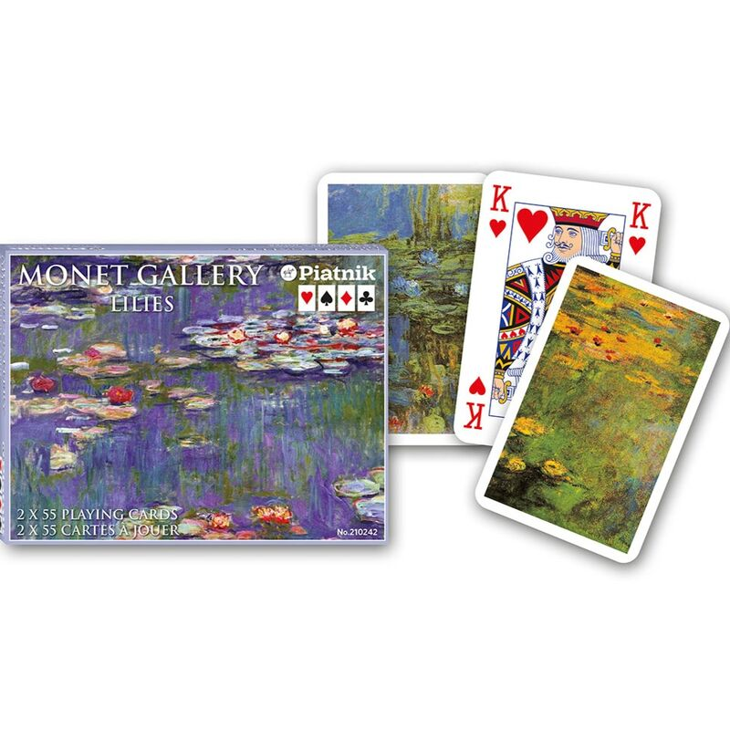 Playing Cards  Double Bridge Monet Lillies