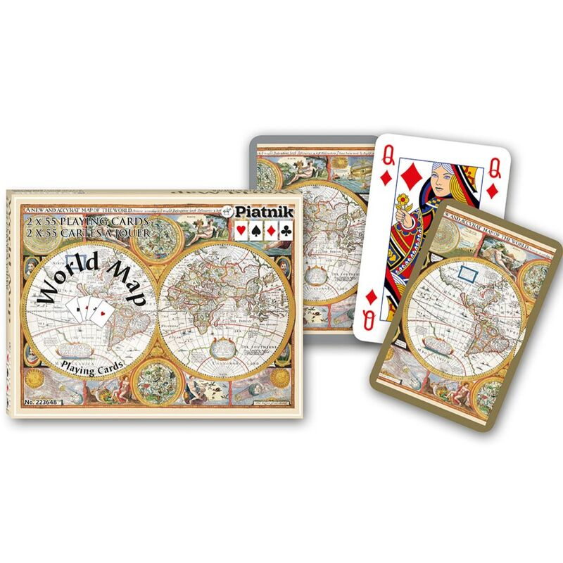 Playing Cards  Double Bridge World Map