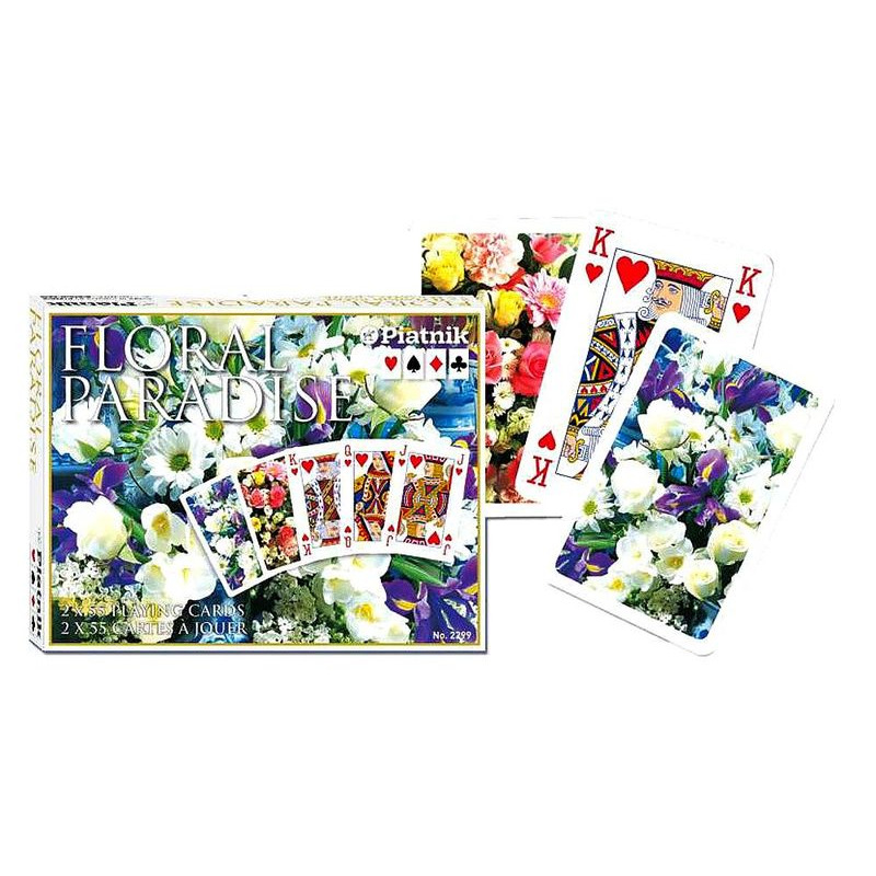 Playing Cards  Double Floral Paradise Blue