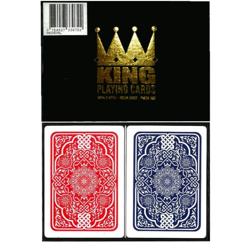 Playing Cards  Double King 100 Plastic