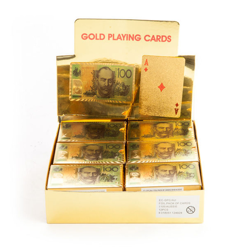 Playing Cards  Single Gold Foil