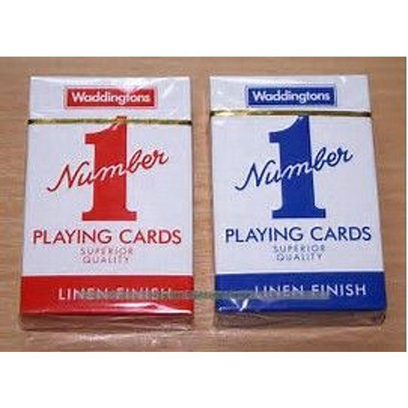 Playing Cards  Single Waddingtons Linen Finish