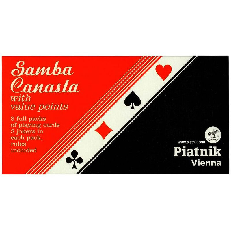 Playing Cards   Piatnik Triple DeckPiatnik Plastic Coated Samba Canasta