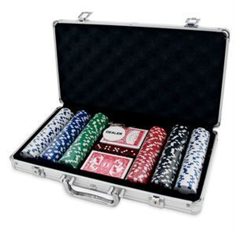 Poker Chips  300 Chips in Metal Case